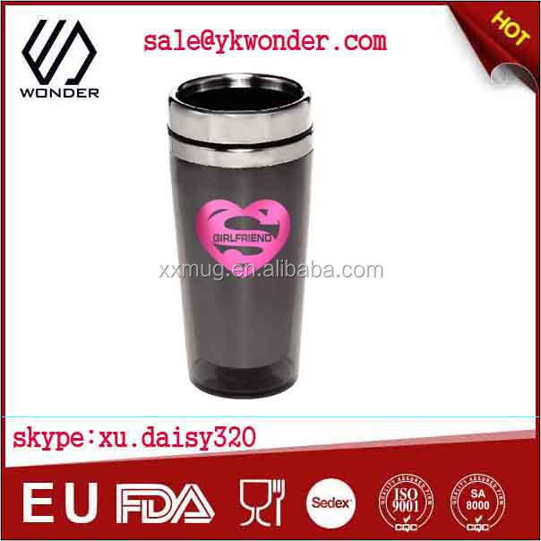 eco friendly coffee photo insert travel mug without handle