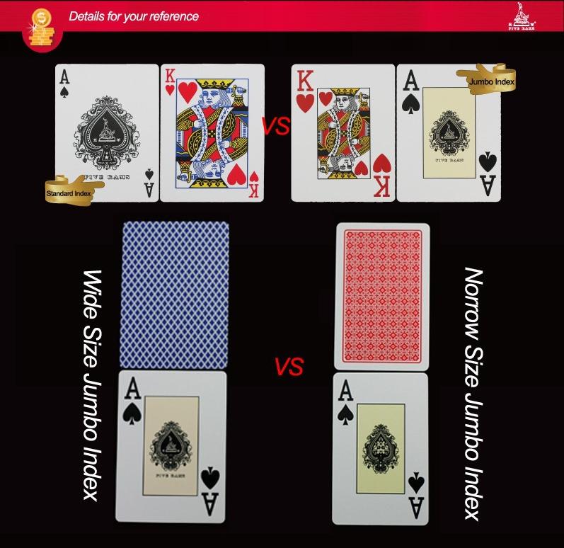 Custom plastic poker playing cards