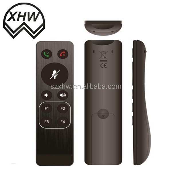 high quality 10 buttons white 2.4g/RF/IR Smart TV remote control for OEM