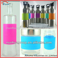 customized food grade silicone sleeve for thermos glass refill vacuum flask