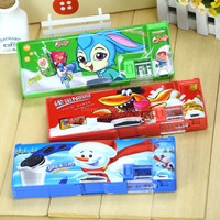 Whole Fashion stationary brands pencil case with compartments