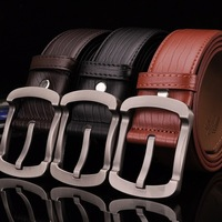 Handmade Band High Quality Waistband Men's Belts 3.7cm Waist Strap Genuine Leather Alloy Buckle Belt