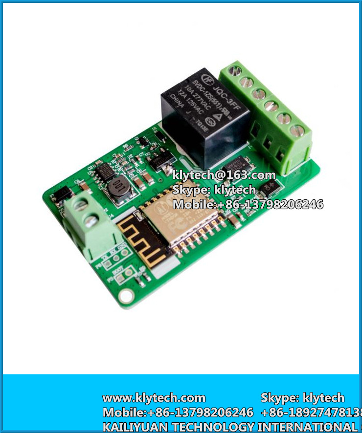 New Arrival 1Pcs Green ESP8266 10A 220V Network Relay WIFI Module Input DC 7V~30V Modules