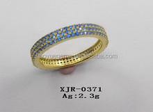 Very popular Traditional style with cz London blue rings for women