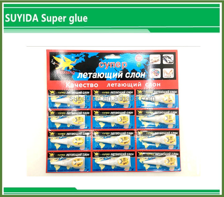 Flying Elephant Fast Drying Instant 3g Super Glue 502 In Plastic Tubes