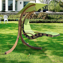 Garden Wooden Patio Single Seat Swing