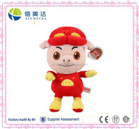 Best sale in China pig swordsman plush and stuffed toys
