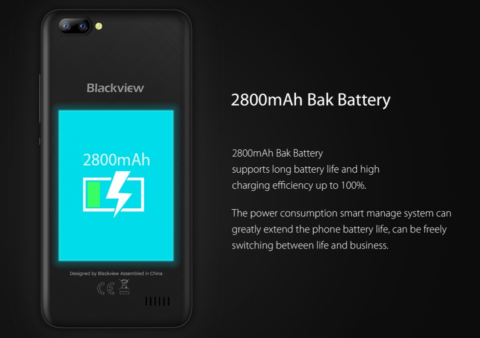 Original Blackview A7 Mobile Phone Dual Rear Camera Android 7.0 5.0 inch 2800mAh MT6580A Quad Core 1GB RAM 8GB ROM Cheap Phone