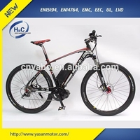 "2015 new design 250W 8FUN brushless motor No Folding Mid Drive 26"" electric mountain bike for adults"