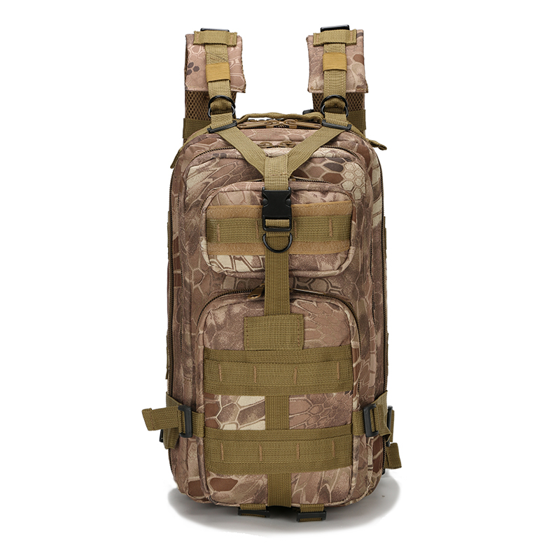 Outdoor sports Camouflage backpack durable canvas military bulletproof backpack