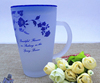 Haonai 2016 bulk cheap frosted glass tea mug