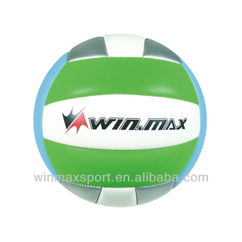 High quality 3 colors PVC machine stitched soft volleyball,training and match volleyball