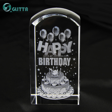 Glitta wholesale alibaba crystal gifts birthday gifts 3d laser engraving crystal,crystal souvenirs for guests CG039