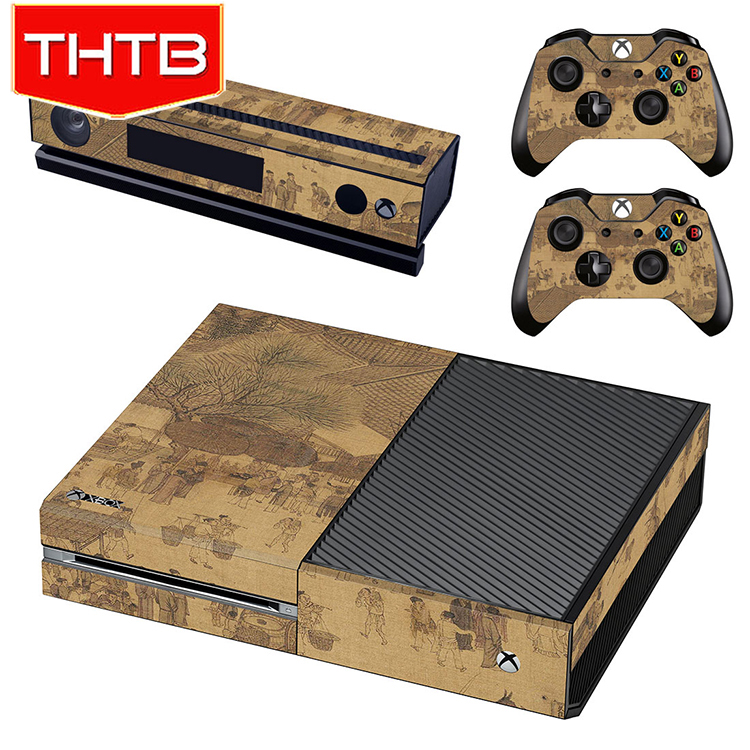 For Xbox One Vinyl Skin Sticker Riverside Scene at Qingming Festival