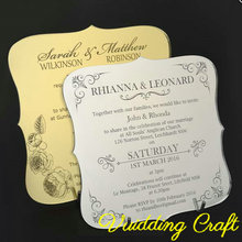 Antique Mirror Perspex Wedding Invitation For Ceremony Guest's Gifts