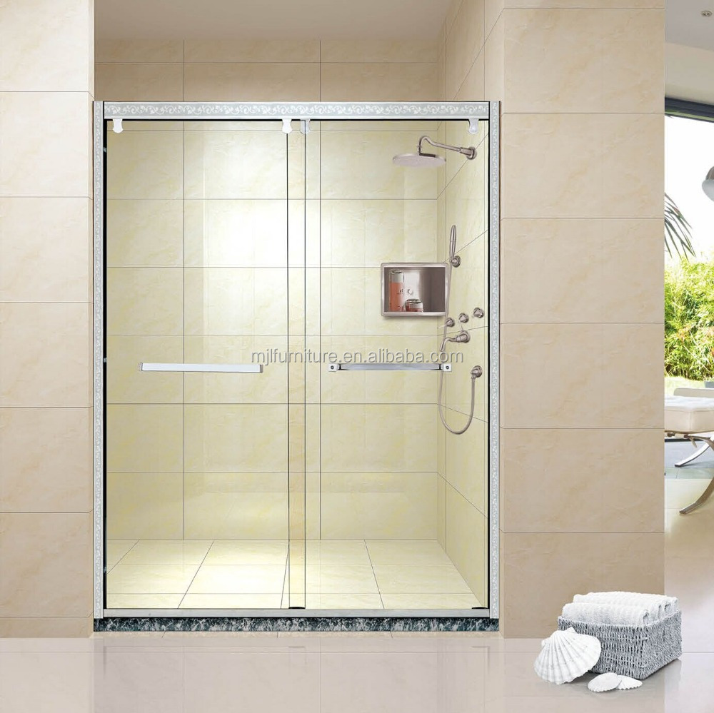 Luxury shower cabin parts with sliding door tempered glass for Luxury sliding glass doors