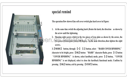 desktop perfect hot melt glue book binding machine