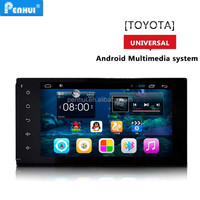 PENHUI ANDROID 4.4 7 INCH GPS PLAYER For TOYOTA UNIVERSAL Support OBD+DVR+Radio+Wifi+3G+PHONE BOOK+FREE MAP