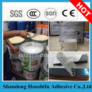 Building decoration adhesive for aluminum plates protective film