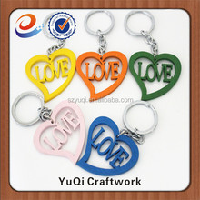 newest product heart shape wooden key chain wholesale