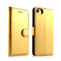 Factory Price Kickstand PU Back Cover Case for iPhone 7,Credit Card Slot Wallet PU Leather