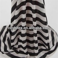 32s drapery soft poly spandex printed stripe jersey knit fabric