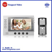 7 inch tft lcd screen video door bell with airphones and hot sale in russian