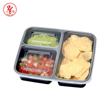 Amazon best sellers Reusable 3 compartment microwave food container