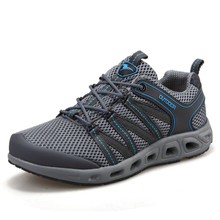 Hiking Shoes Men New Designer Breathable Free Shipping Mesh Hollow Flat Lace-up Light Outdoor Trekking Sneaker Walking Shoes