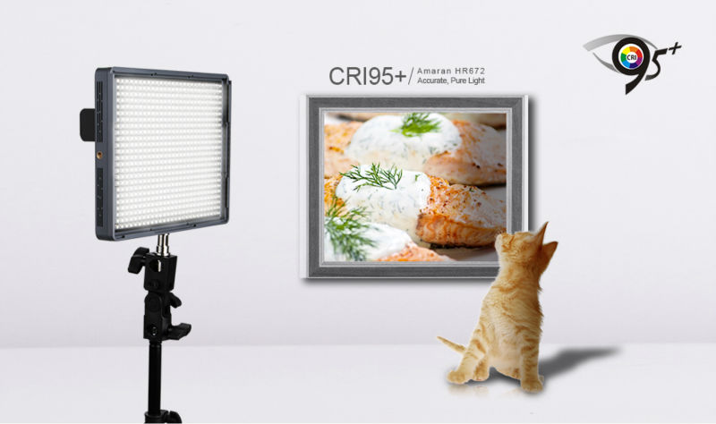 Aputure 2.4G CRI95+ wireless remote control led video panel light with batteries included