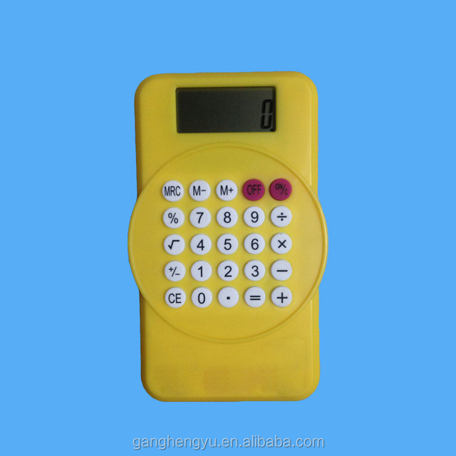 Children Gift Pocket Electronic Clip Calculator with Magnet