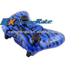 Free Shipping Water Transfer Print Blue Camo Shell / Housing For Xbox 360 Wireless Controller