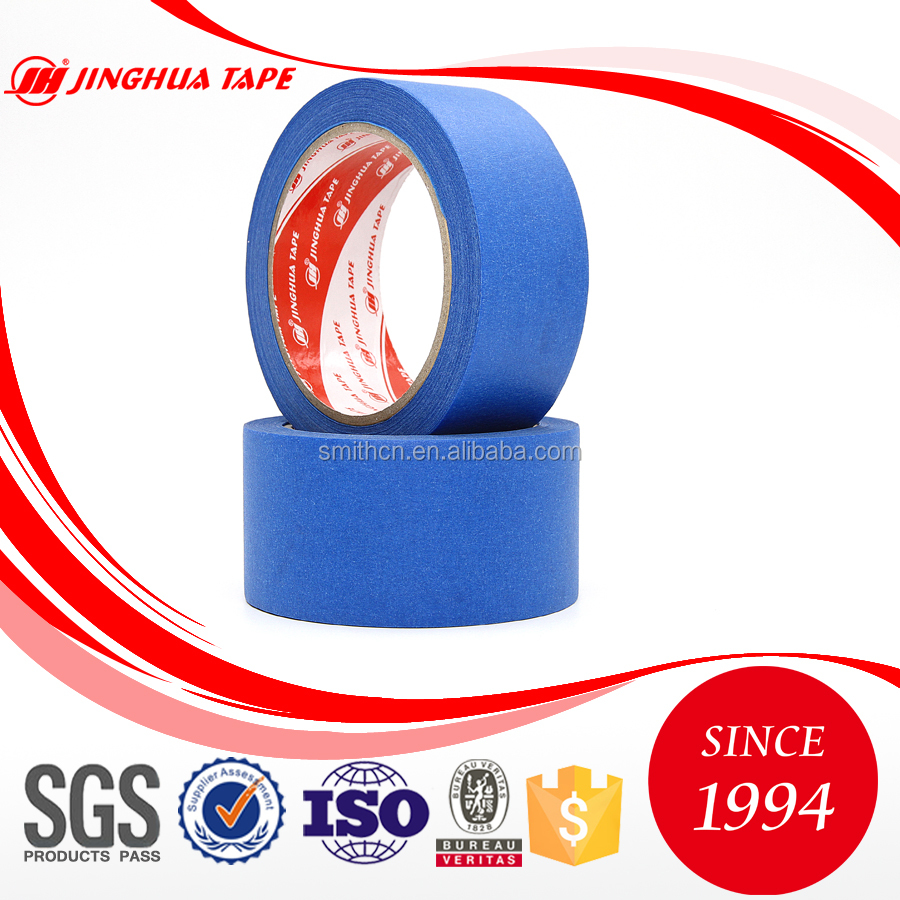 UV resisitant cheap price Acrylic adhesive blue crepe paper masking tape
