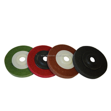 "Good price china manufacture abrasive non woven 4"" stainless steel polishing disc"
