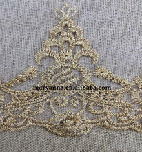Embroidered two tone lace fabric