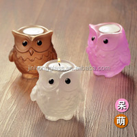 animal shape glass tealight candle holder