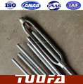 Galvanized steel solar stay rod / solar brackets support/stay rod back up /turnbuckle