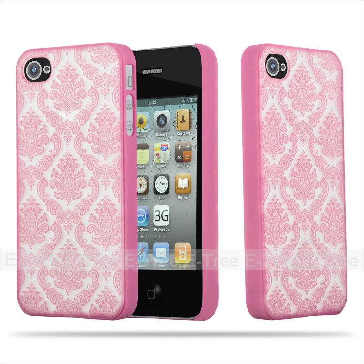 New protective flower soft TPU phone back cover case for Apple Iphone 4 4s