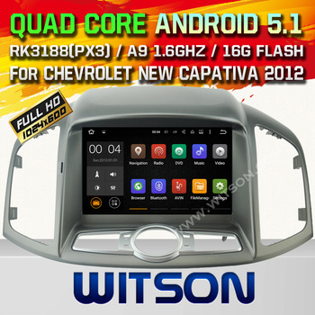 WITSON Android 5.1 DOUBLE DIN CAR DVD For CHEVROLET NEW CAPATIVA 2012 WITH CHIPSET 1080P 16G ROM WIFI 3G INTERNET DVR SUPPORT