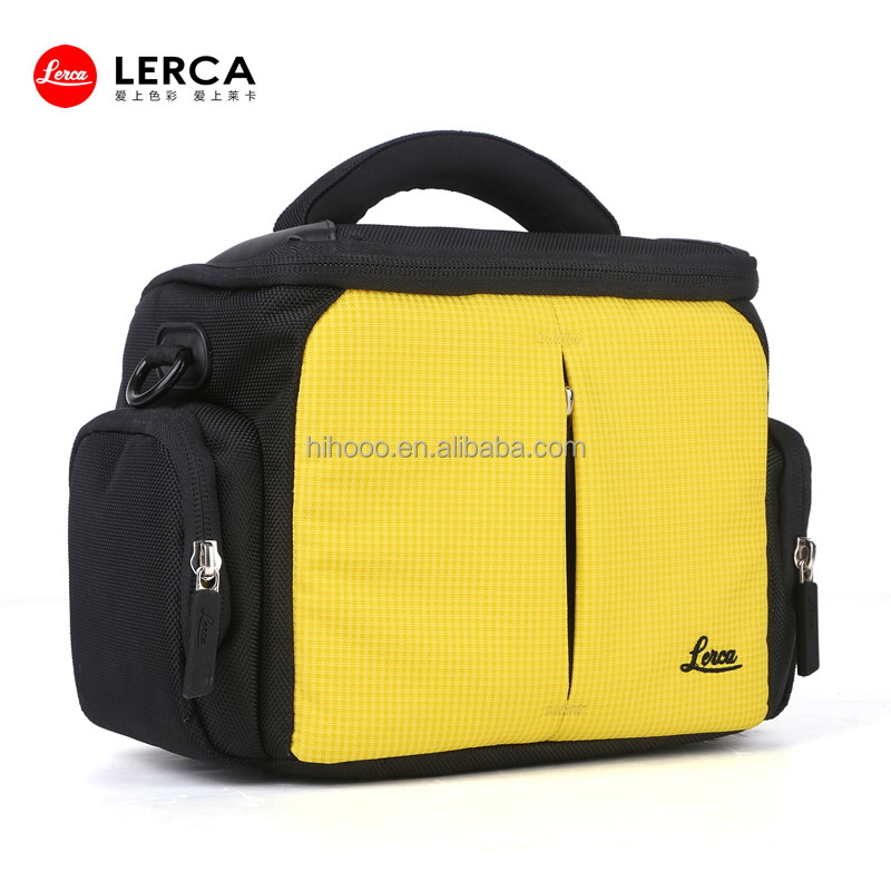 2014 Newest Yellow Nylon vintage camera bag trendy dslr camera bags unique camera bags