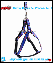 wholesale dog products puppy stars printed chain nylon pet harness and leash set
