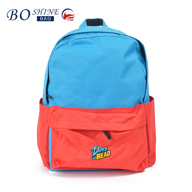 OEM Outdoor PVC waterproof Kids High School Backpack With Printed for Camping