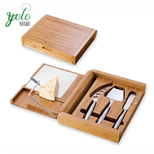 Elegant Bamboo Cheese Cutting Board and Tools Set