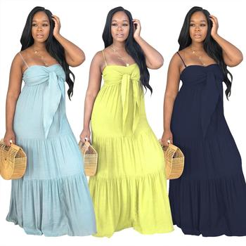 latest  Women strapless maxi dress Casual  bohemia dress summer