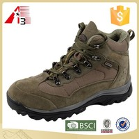wholesale low moq men cow leather hiking shoes on sale
