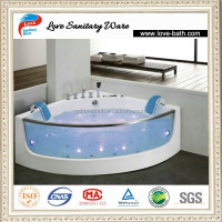 chinese corner acrylic jet whirlpoor massage bathtub for double 2 peraon