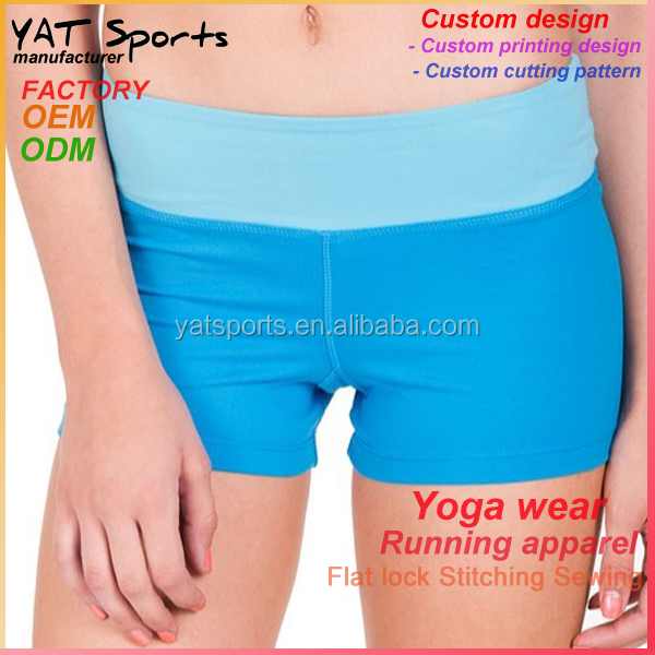 Fashion sexy ladies hot yoga shorts sports underwear