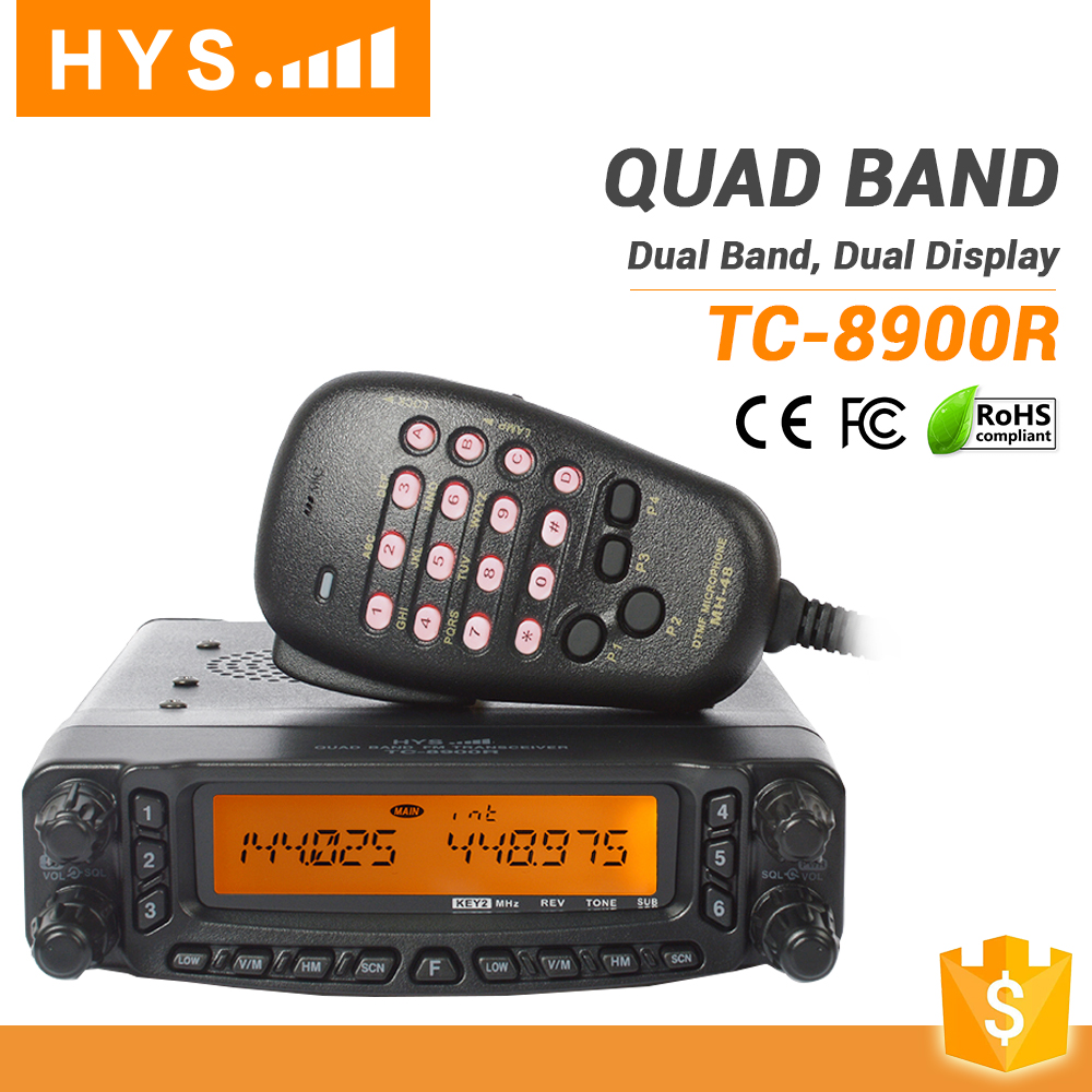 Vehicle Mounted 809 Channels Quad Band HF FM Frequency Mobile Radio Base Radio Station FT-8900R