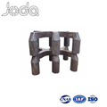 Raw Materials for Die Casting Double Prebaked Carbon Anode Welded Steel Electrolysis Claw