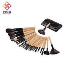 Customize Logo New 24pcs Makeup Cosmetic Brushes Set Powder Foundation Eyeshadow Lip Beauty Brush Tool